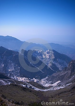 Dawn In Apuan Alps, Carrara, Italy Royalty Free Stock Images - Image: 19387249