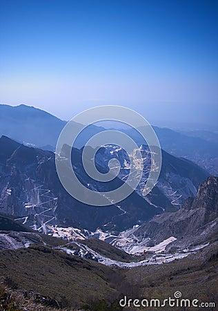 Dawn in Apuan Alps, Carrara, Italy