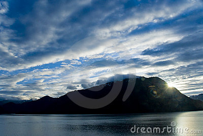 Dawn Breaks Over Juneau Alaska