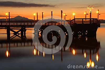 Dawn Fishing Pier, Fraser River
