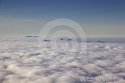 Dawn fog in the mountains