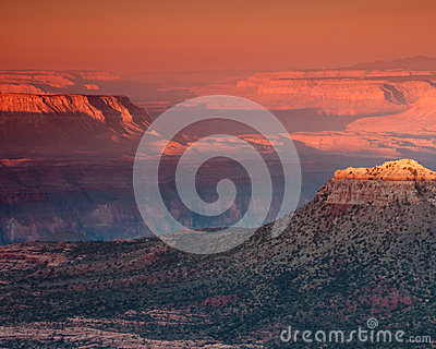 Dawn in the grand canyon