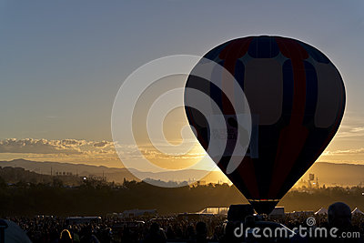 Dawn at the Great Reno Balloon Race Editorial Photo