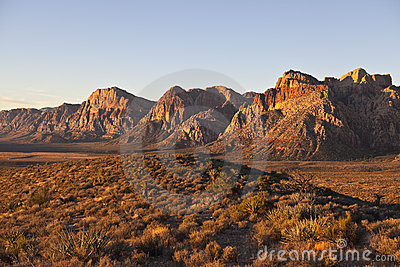 Dawn light at Red Rock Nevada