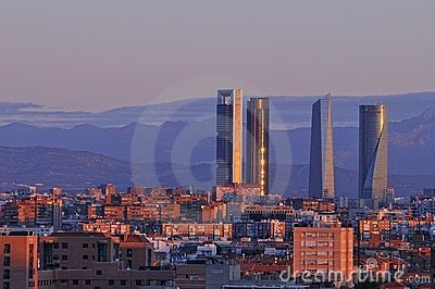 Dawn in Madrid.