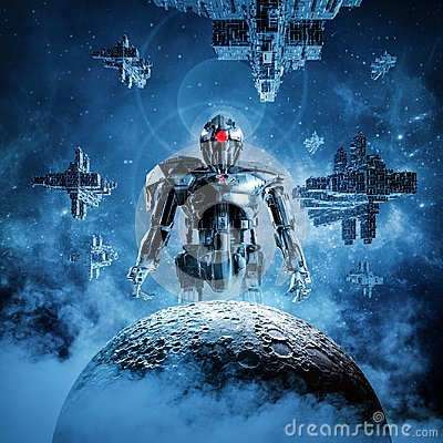 Free Dawn Of The Machines Royalty Free Stock Photography - 124392677