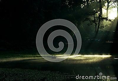Dawn over Angkor Lake
