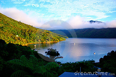 Dawn on Queen Charlotte track