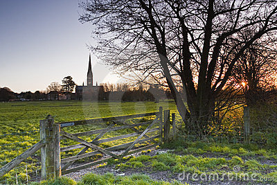 Dawn in Salisbury