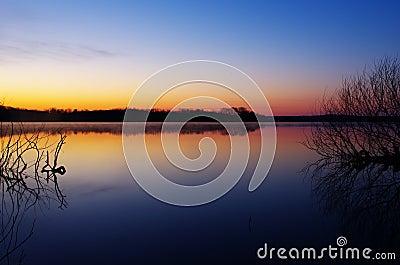 Dawn at Spruce Run Reservoir