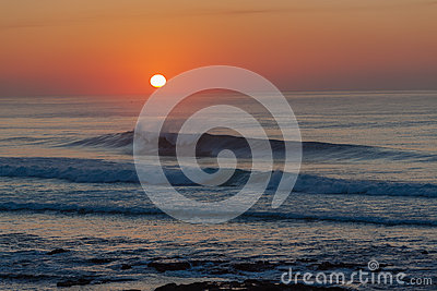 Dawn Sunrise Sea Ocean Waves