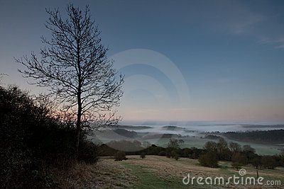 Dawn in the Surrey Hills