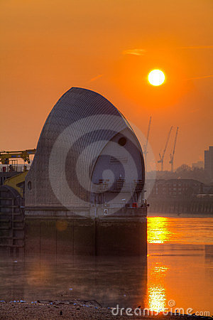 Dawn at the Thames Barrier