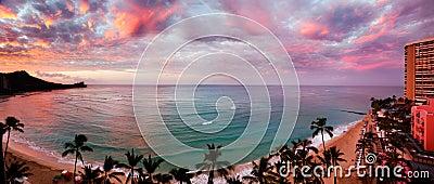 Dawn at Waikiki Beach