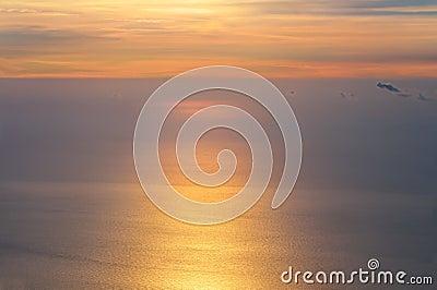 Dawning Sky and Sea on Sunrise morning beautiful Infinity scenery Background