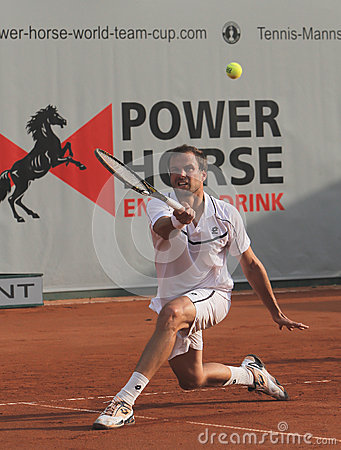 Day 2, Tennis Power Horse World Team Cup 2012 Editorial Photography