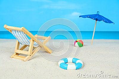 Day at the beach diorama