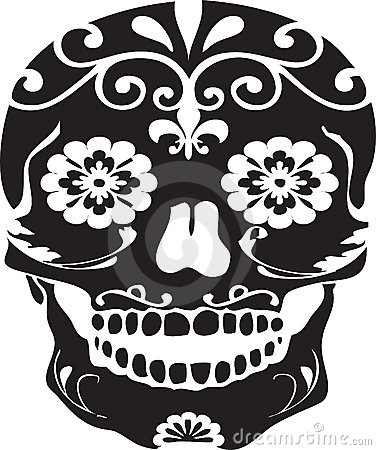 Day of the Dead Black Vector Sugar Skull