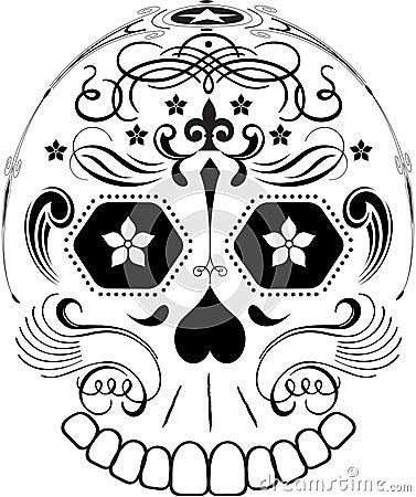 Day of the Dead Line Art Sugar Skull