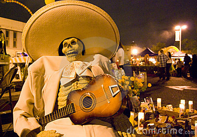 Day of the dead musician dead