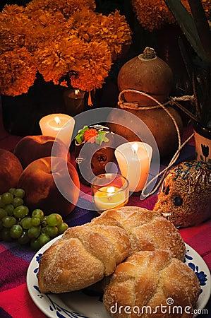 Day of the dead offering altar (Dia de Muertos)