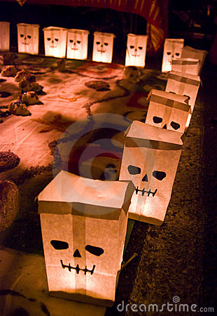 Day of the dead paper bags