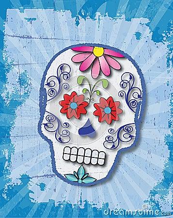Day of the Dead Slightly Grungy Sugar Skull