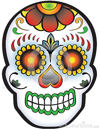 Day of the dead Sugar Skull Stock Photo