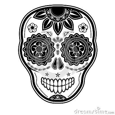 Day Of The Dead Sugar Skull Cartoon Vector | CartoonDealer.com #29798563