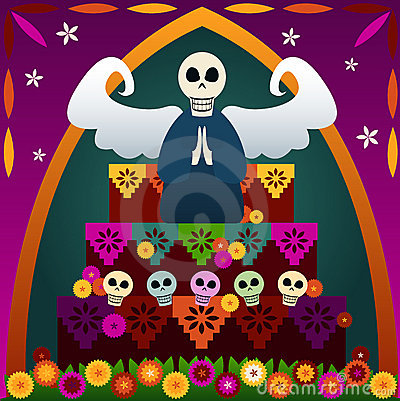 Free Day Of The Dead Altar Royalty Free Stock Photography - 819717