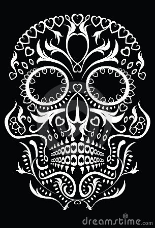 Free Day Of The Dead Skull Royalty Free Stock Image - 16693446