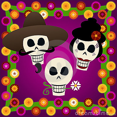 Free Day Of The Dead Skulls Royalty Free Stock Photos - 819718