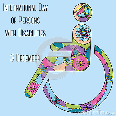 Day of Persons with Disabilities background Vector Illustration