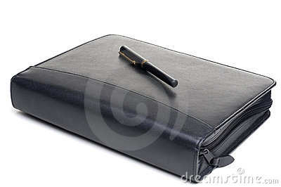 Day planner with a pen