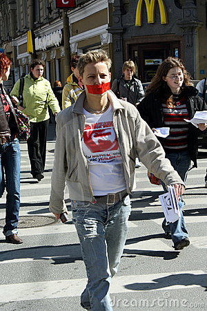 Day of silence in Saint Petersburg Editorial Photo