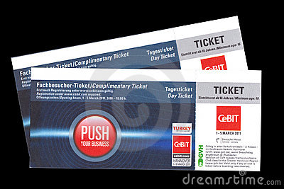 Day Ticket for Cebit 2011 in Hannover, Germany Editorial Photo