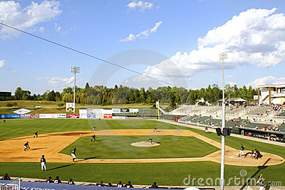 Day time Minor League baseball stadium