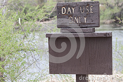 Day Use Only Sign