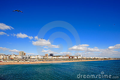 Day view of Brighton in East Sussex UK