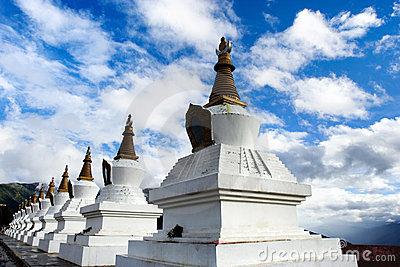 Day view of stupa at Deqing Yunnan Province China