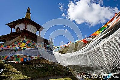 Day view of stupa at Tagong Sichuan Province China