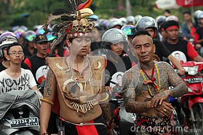 Dayak Peaople Editorial Photo