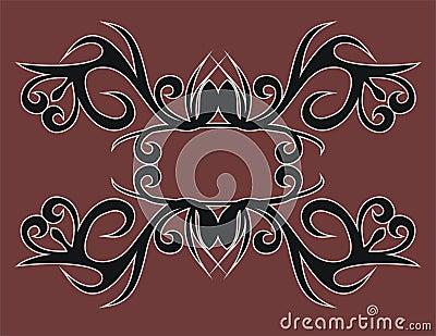 Dayak tribe motif