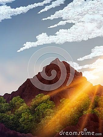 Daybreak Digital Painting
