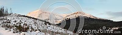 Daybreak mountain landscape