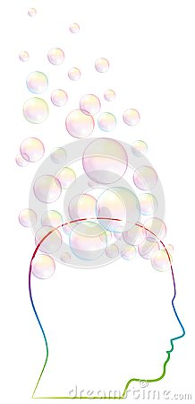 Free Daydreamer Fantasy Mind Brain Bubbles Royalty Free Stock Image - 107703836