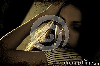 Daydreaming brunette