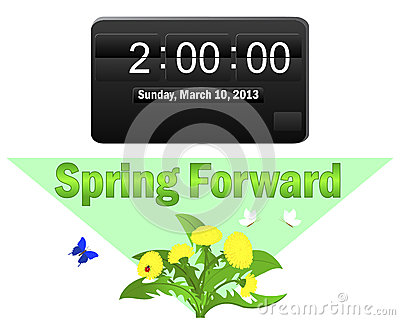 Daylight saving time begins. March 10, 2013.