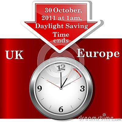 Daylight saving time ends.