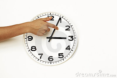 Daylight savings time ending, clock reset (DST)